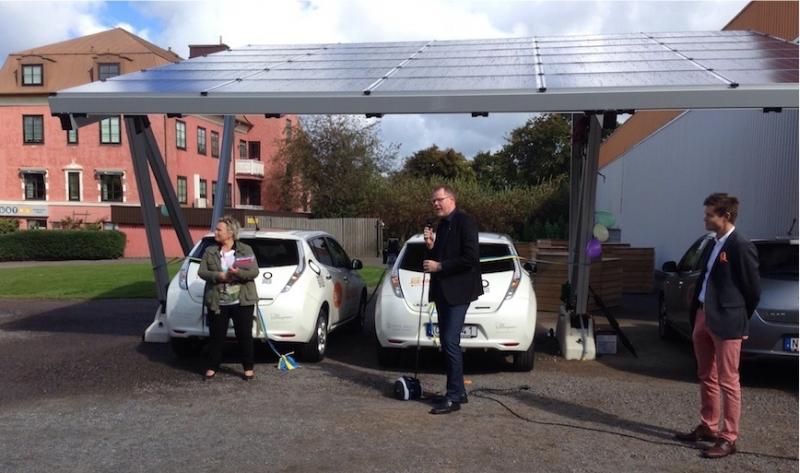 Varberg satsar på solbilspool