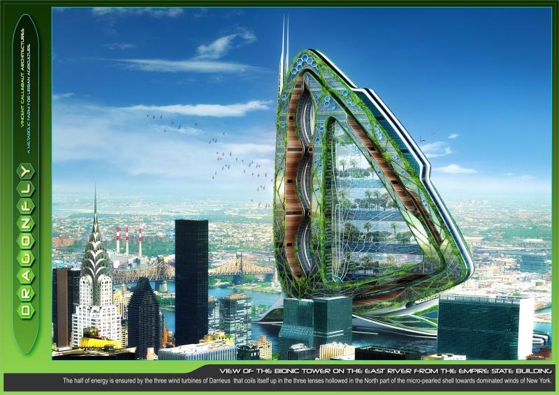Vertikla växthuset Dragonfly för framtidens matproduktionen