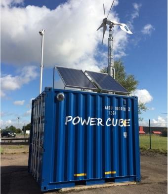 Soldriven container ska skydda Kalmar hamn
