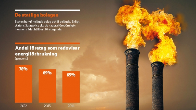 Färre statliga bolag klimatrapporterar