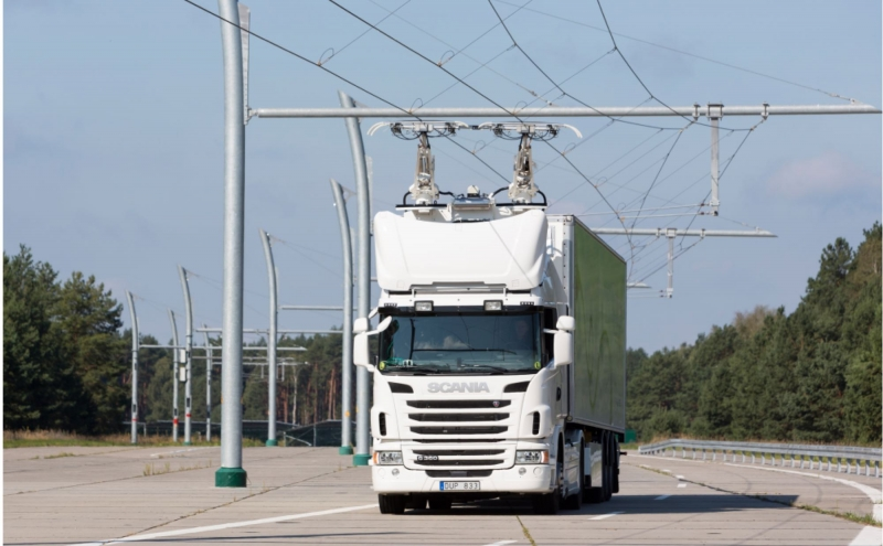 Sverige först med elväg för tung transport
