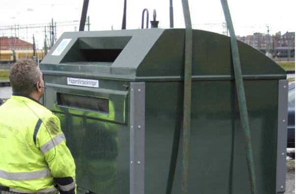 Uppkopplad återvinning ger klimatsmarta transporter