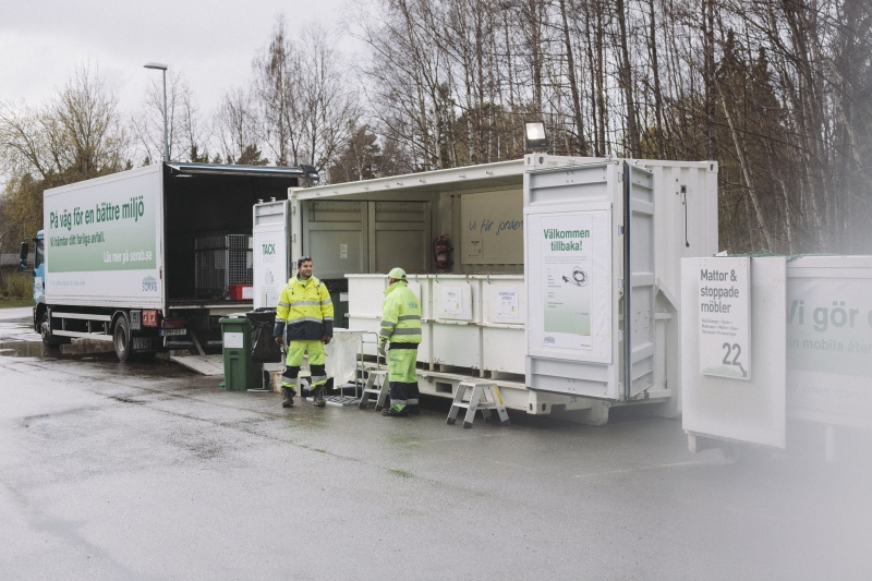 Mobil återvinning ökar insamling av farligt avfall