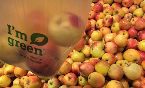170 miljoner plastpåsar bort från fruktdisken
