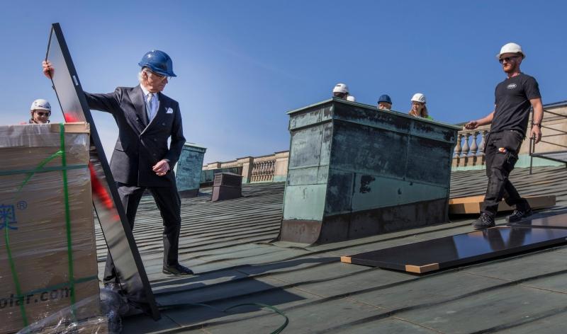 Stockholms slott får solpaneler