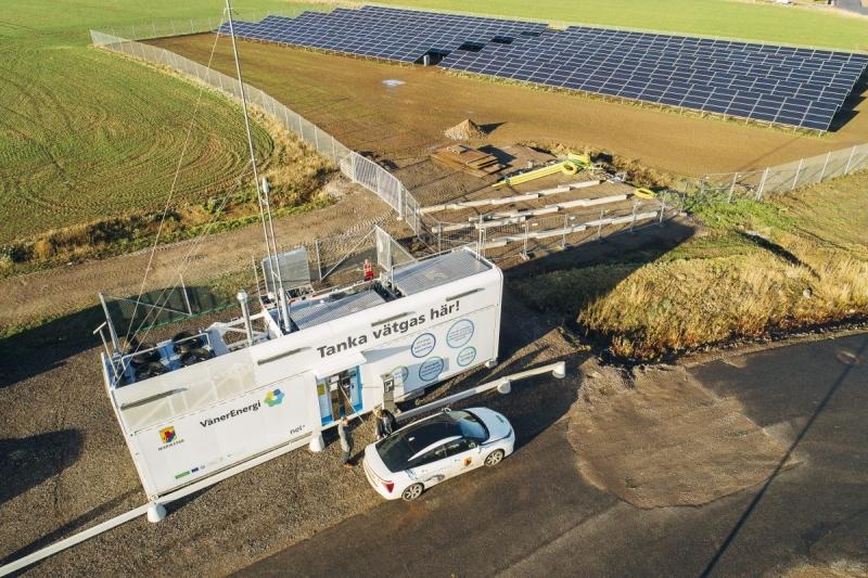 Så fick Mariestad Sveriges första soldrivna vätgasmack