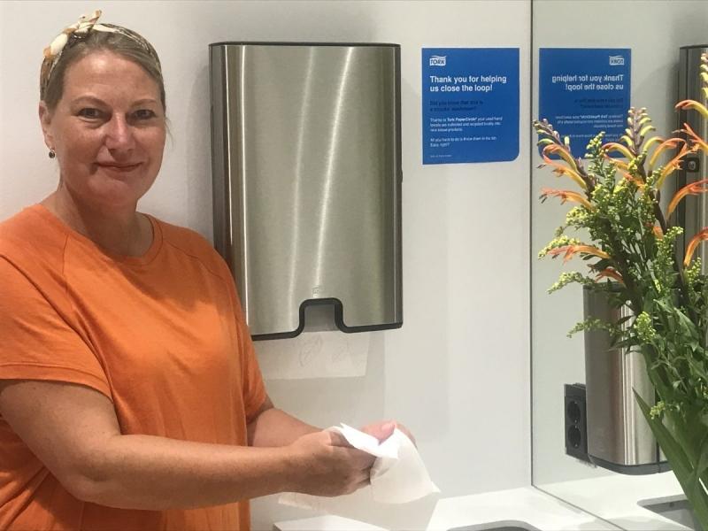 Essity satsar på återvinning av pappershanddukar