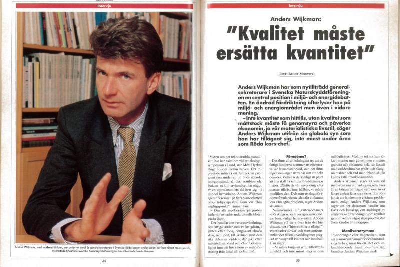 "Anders Wijkman: ""Driver fortfarande samma frågor"""