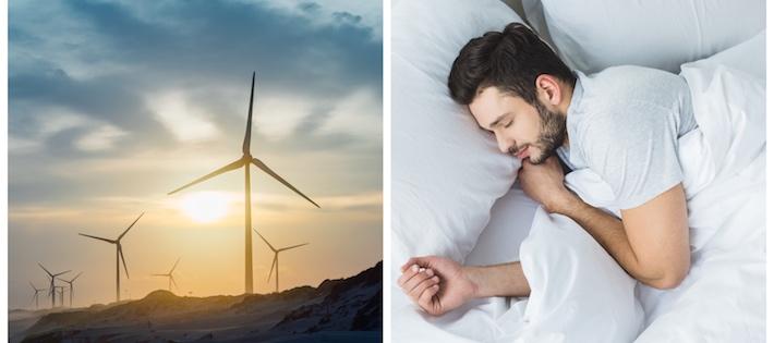 Sämre sömn med vindkraftsljud