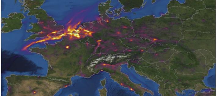 Inga tecken på ökade luftföroreningar i Europa