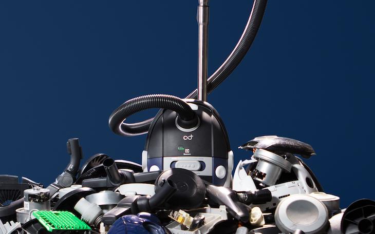 Återvunnen plast duger bra för dammsugare