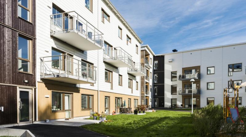 Stark ökning för flerbostadshus i trä