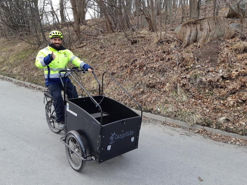 Karlshamns kommun ersätter lastbil med cykelbud