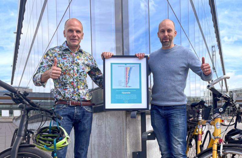Uppsala korad till bästa cykelkommun