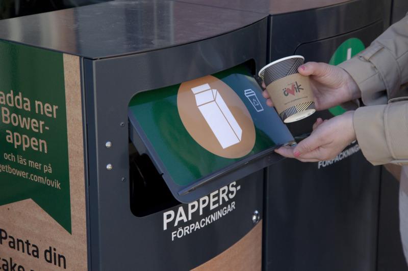 Nu kan du panta kaffemuggen i Örnsköldsvik